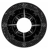 Pegatina protector de radios brújula negro