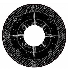 Spaakbeschermer sticker kompas zwart