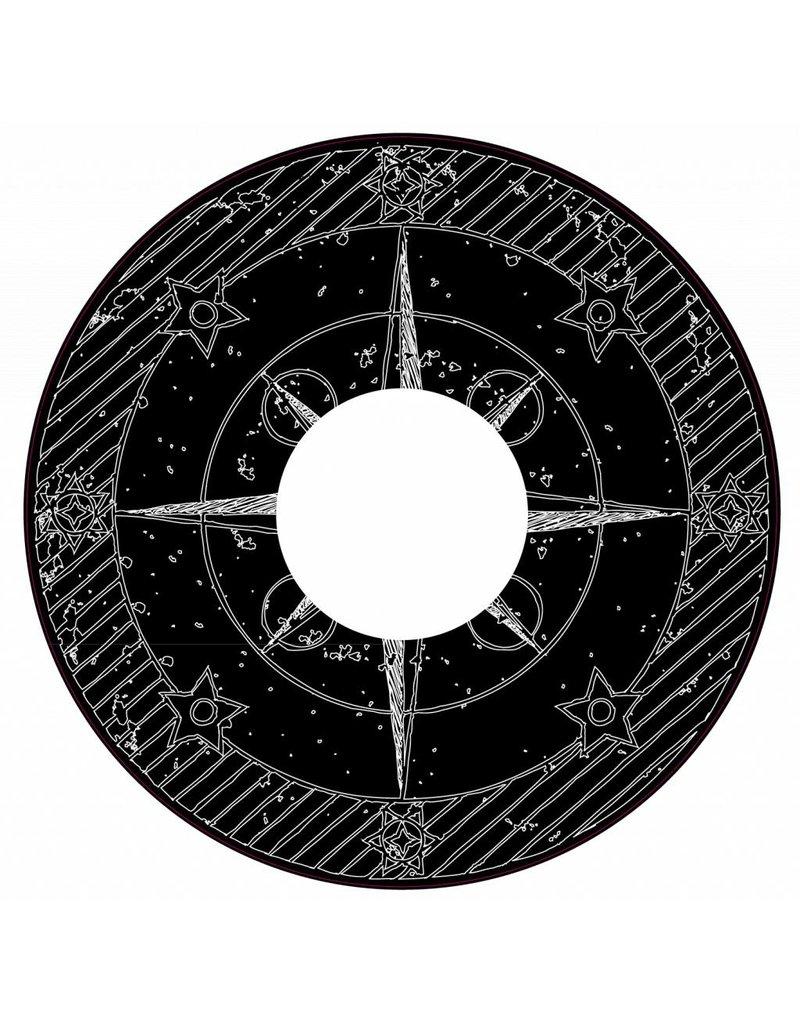 Spaakbeschermer kompas zwart