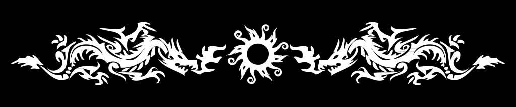 Sonnenschutzfolie dragons with sun