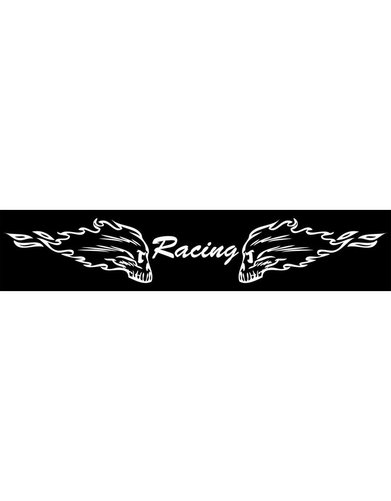 Bandeau pare-soleil voiture racing skulls