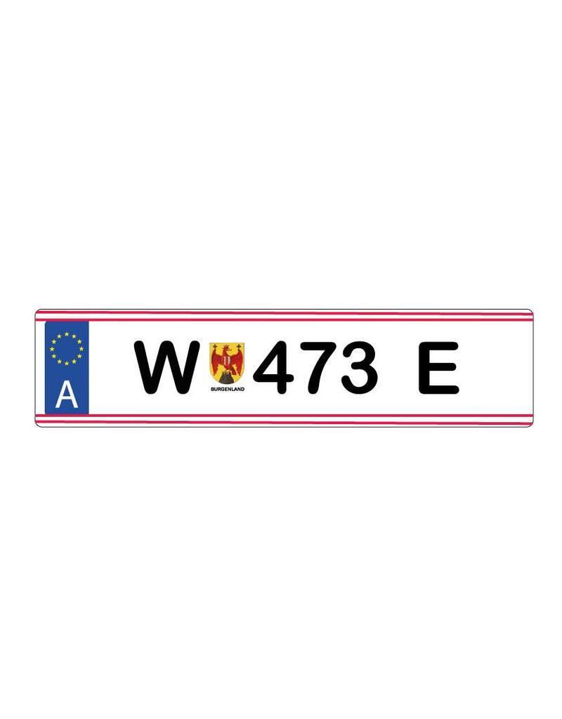 Oostenrijk kenteken Sticker