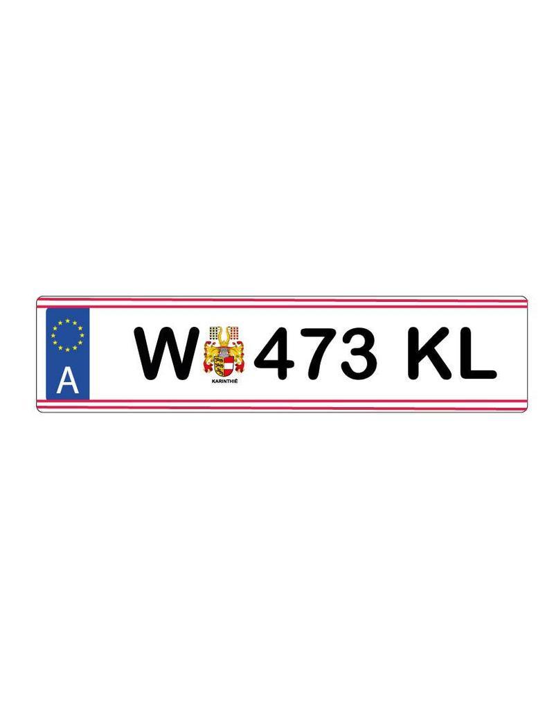 Autocollant plaque d'immatriculation autrichienne