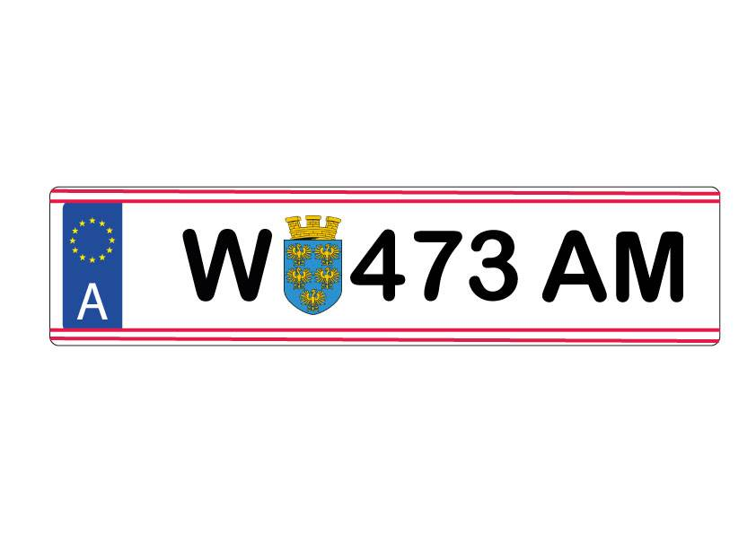 Austria License Plate Sticker
