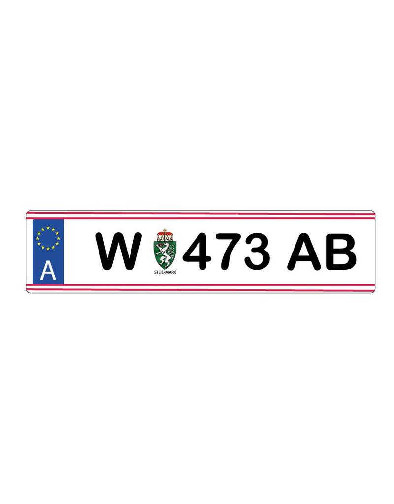 Pegatina placa de matrícula austriaca