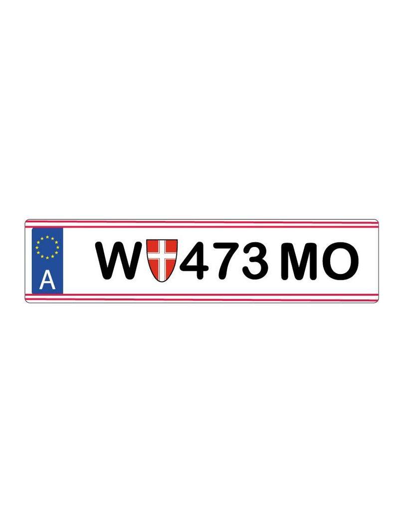 Austria License Plate Sticker