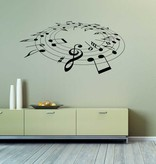 Musical Notes Interior Sticker