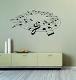 Notes de musique Intérieur autocollant