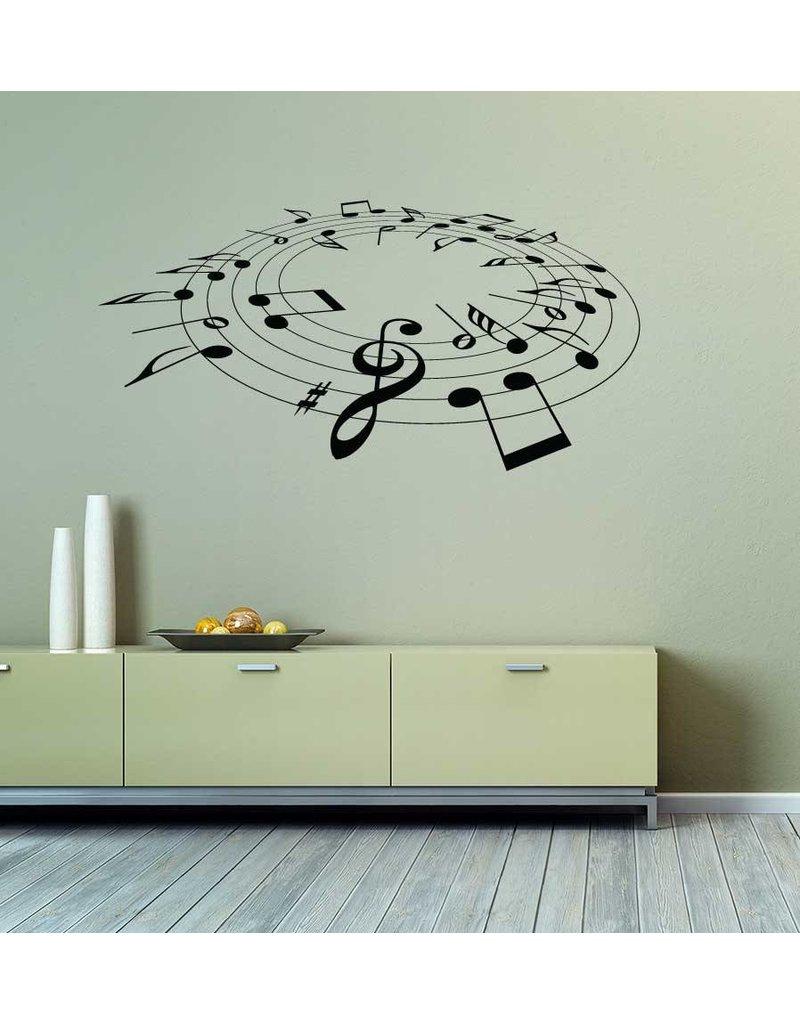 Muzieknoten Interieur Sticker