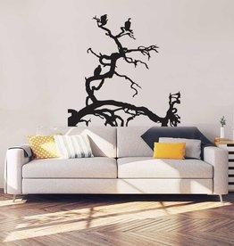 Baum mit Vögeln Inneneinrichtung Aufkleber