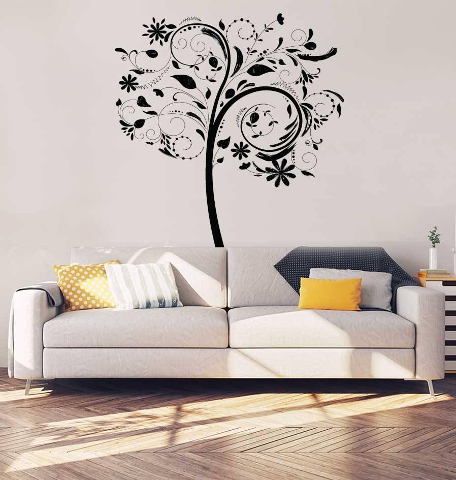 Blumen Baum Inneneinrichtung Aufkleber