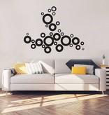 Abstract Circles Interior Sticker