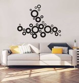 Abstract Cirkels Interieur Sticker