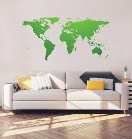 Carte du monde intérieur autocollant