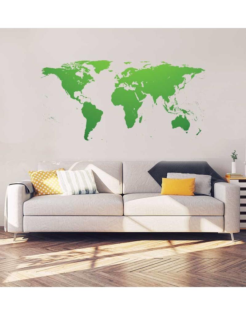 Wereldkaart Interieur Sticker