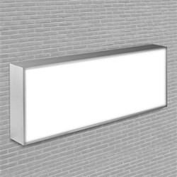 Publicidad luminosa de un lado LED
