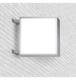 Publicité lumineuse carré des deux côtés