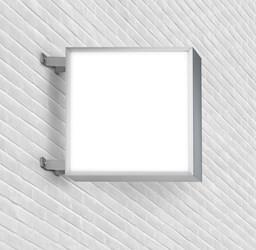 Lichtreklame quadratisch doppelseitig