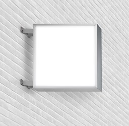 Publicidad luminosa cuadrada doble