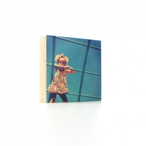 Foto op houten blok