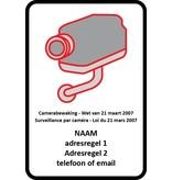 autocollant CCTV (selon la loi belge)