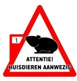 Attentie! Huisdieren aanwezig - Sticker