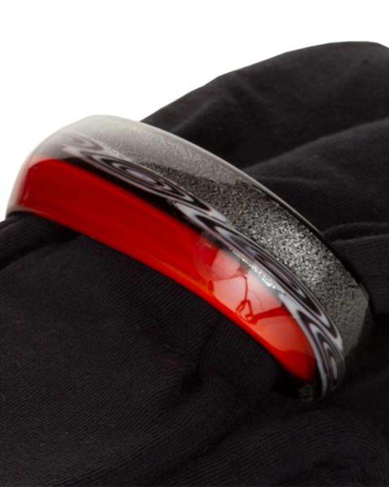 Embracelet - Schwarz/Rot Murano Glass Ring