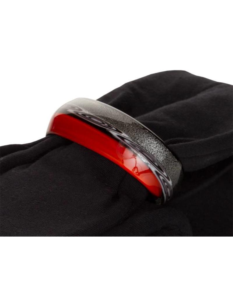 Embracelet - black/red Murano Glass Ring