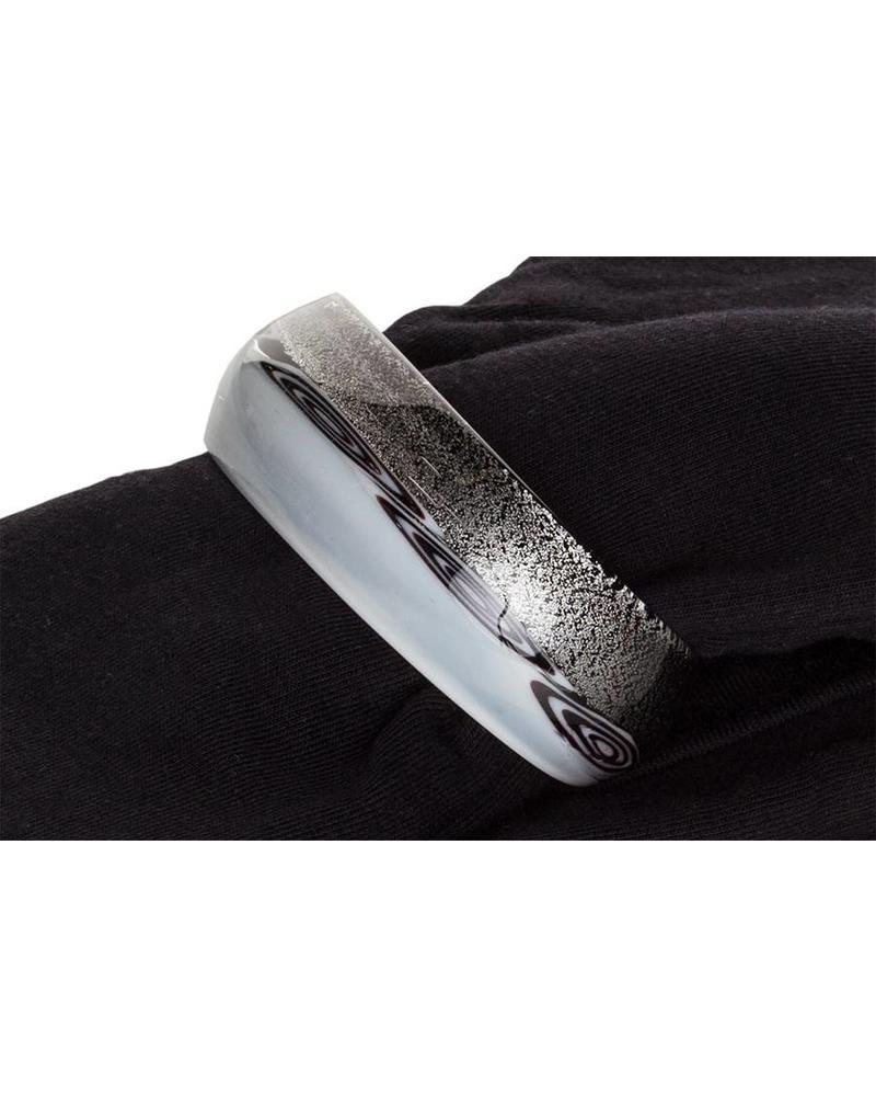 Embracelet schwarz/weiss Murano Glass Ring