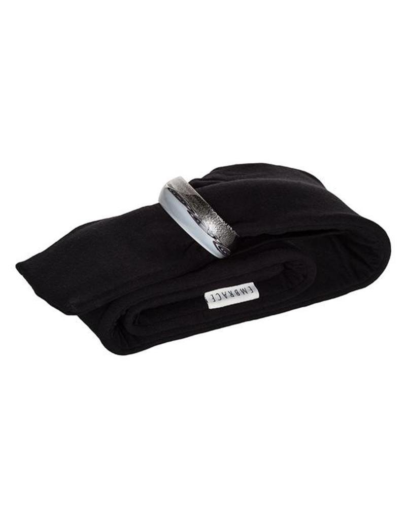 Embracelet Black/White Murano Glass Ring