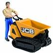 Bruder JCB Dumpster HTD-5 met arbeider