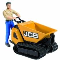 JCB Benne de transport JCB HTD-5 et homme de chantier 1:16