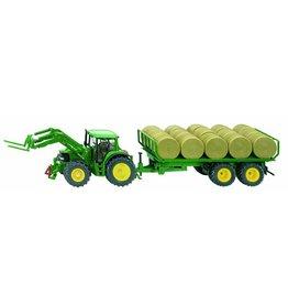 John Deere SIKU John Deere 6820 tractor met rondbalenaanhanger