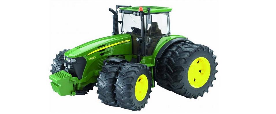 Bruder John Deere 7930 tractor met dubbele banden