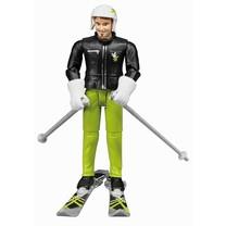 Bruder Bruder Skier met accessoires. 1:16