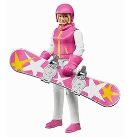 Bruder Bruder Snowboarder met accessoires 1:16