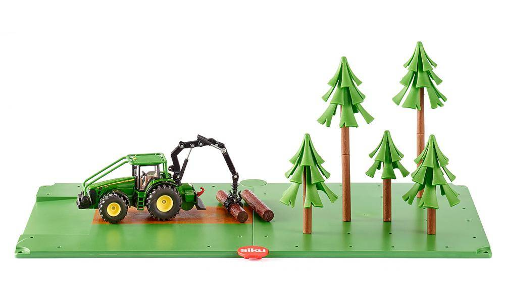 John Deere Bosbouwset van Siku