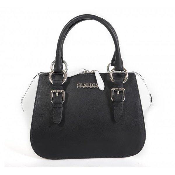 Claudia Firenze Designer-Handtasche schwarz und weiß