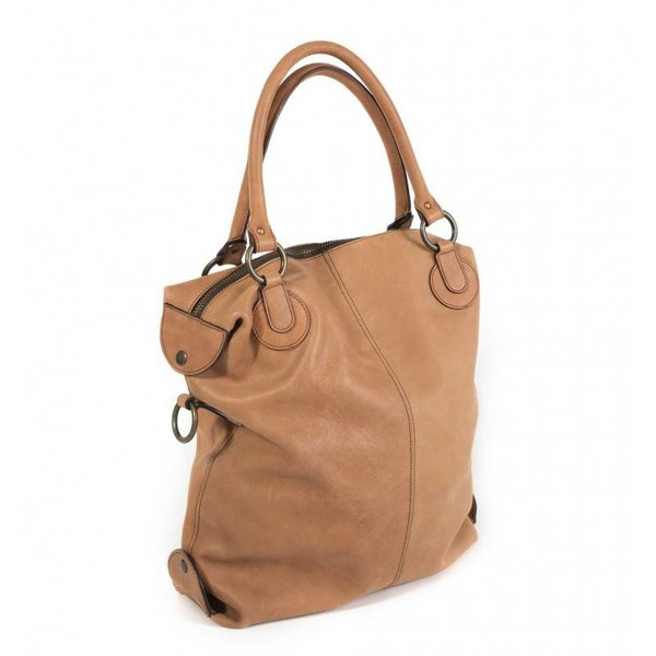 Claudia Firenze leather shoulderbag cognac