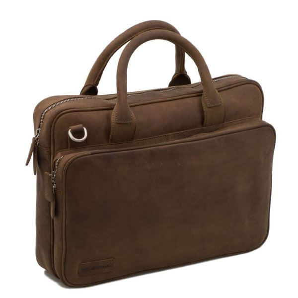 Plevier-Leder-Laptop Brown