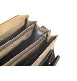 Plevier Plevier -Leder-Laptop Brown