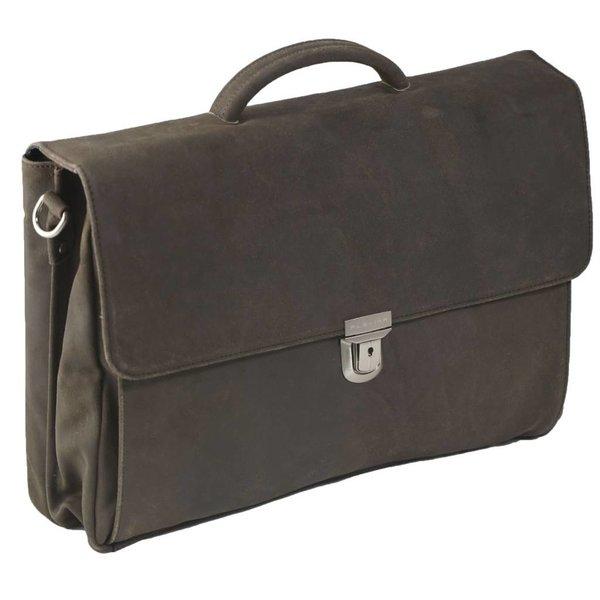 Plover-Leder-Laptop Brown