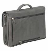 Plevier Plover-Schwarz-Leder-Laptop-Tasche