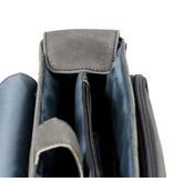 Plevier Plevier-Schwarz-Leder-Laptop-Tasche