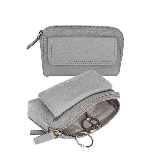 dR Amsterdam Schlüsseltasche Mint Grau Elephant Skin