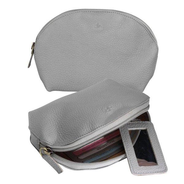 dR Amsterdam Make-up Bag Mint Grau Elephant Skin