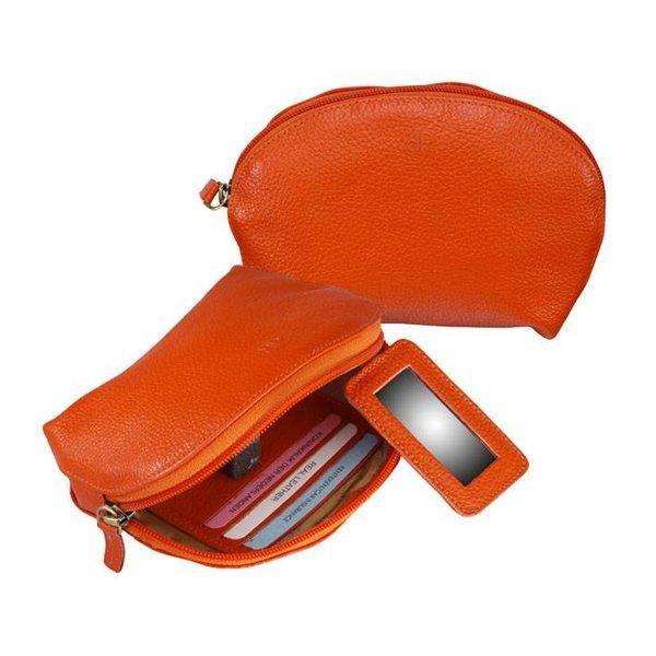 dR Amsterdam Make-up Bag Mint Tangerine Tango orange