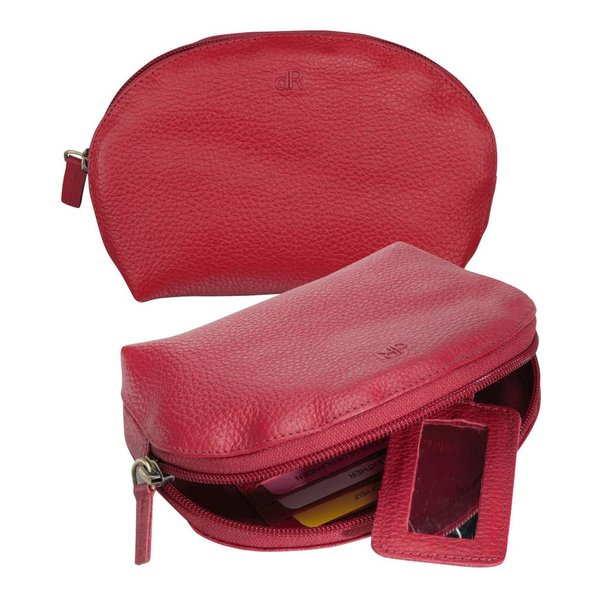 dR Amsterdam Make-up Bag Mint Tango Red