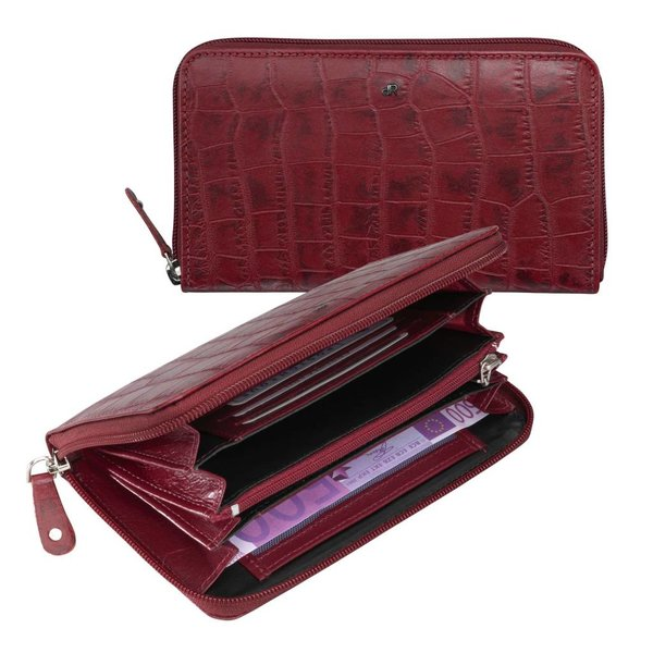 dR Amsterdam Wallet Croco Red