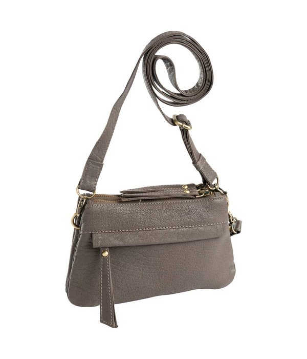 dR Amsterdam dR Amsterdam Grain Schultertasche Taupe